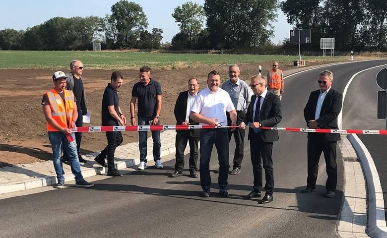 """Aufwertung für den Wirtschaftsstandort Halberstadt – Anbindung des In-dustriegebietes """"Ost"""" an die neue B79 [(c) Stadt Halberstadt/Pressestelle]"""