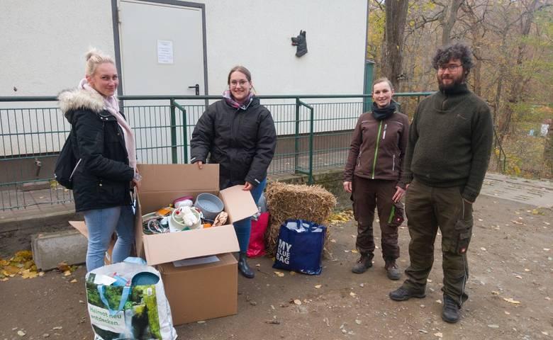 """Einmal alles"" für die Fundtierunterkunft [(c) Stadt Halberstadt/Tiergarten]"