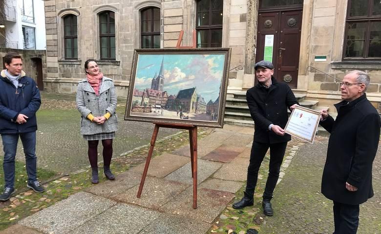 Grandiose Spendenaktion brachte wiederentdecktes Gemm-Gemälde nach Halberstadt zurück [(c) Stadt Halberstadt/Pressestelle]