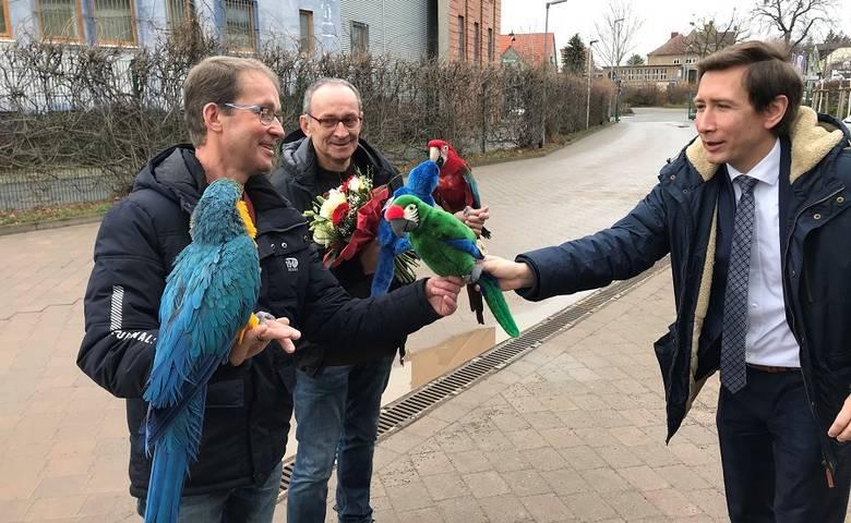 """""""Das waren glückliche Jahre"""" - Bussenius-Brüder nach mehr als 40 Jahren aus dem Tiergarten verabschiedet [(c) Stadt Halberstadt/Pressestelle]"""