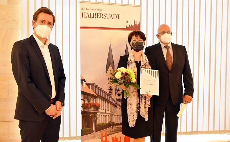 Kathrin Hotowetz ist Persönlichkeit des Jahres 2021 [(c) Stadt Halberstadt, Pressestelle]