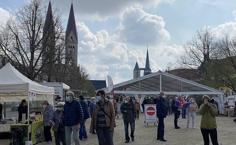 Marktplatz On Tour in Halberstadt [(c) Stadtmarketing/Öffentlichkeitsarbeit]