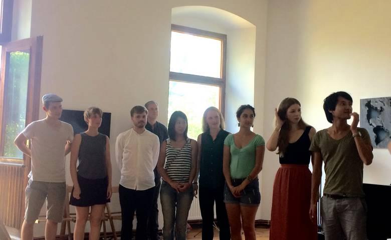 Preisträger: (von links) Nils Borggrefe, Sophia Hegewald, Lugwig Schulze, Mitzuka Kano, Magdalena Faust, Shaghayegh Sharabi, Ewa Lrovenovic und Tamon Yashima.
