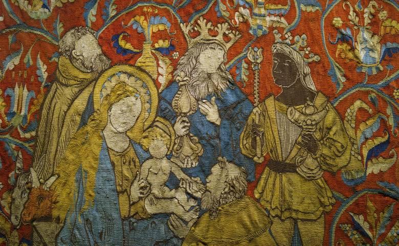 Marienteppich - Heilige Drei Könige im Domschatz Halberstadt [(c) Domschatz Halberstadt]