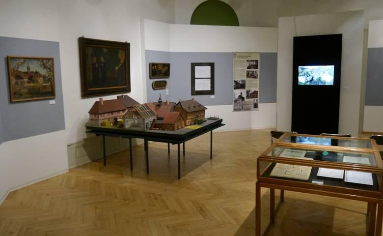 Modell Siechenhof in der Ausstellung [(c) Städtisches Museum Halberstadt]