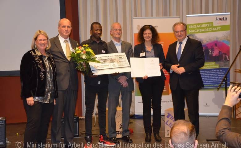 """Verleihung des """"Integrationspreises des Landes Sachsen-Anhalt 2017"""" [(c) Ministerium für Arbeit, Soziales und Integration des Landes Sachsen-Anhalt]"""